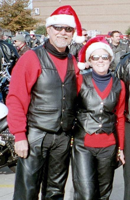 David and Linda, Lewisville, Texas Toy Run, 2003