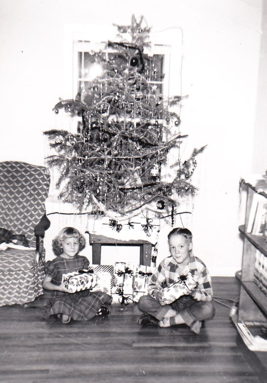 Linda and brother Jim, 1953