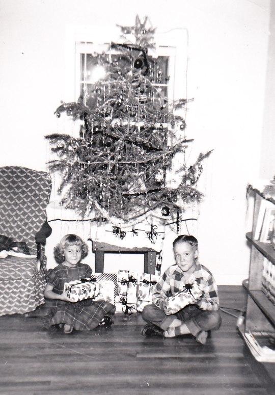 Linda and brother Jim, 1953