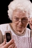 Older woman with cell phone