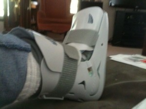 Dr. Graves gave me this hot, heavy boot.