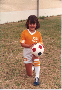 Amy with soccer ball