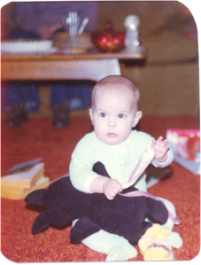 Amy with stuffed animal