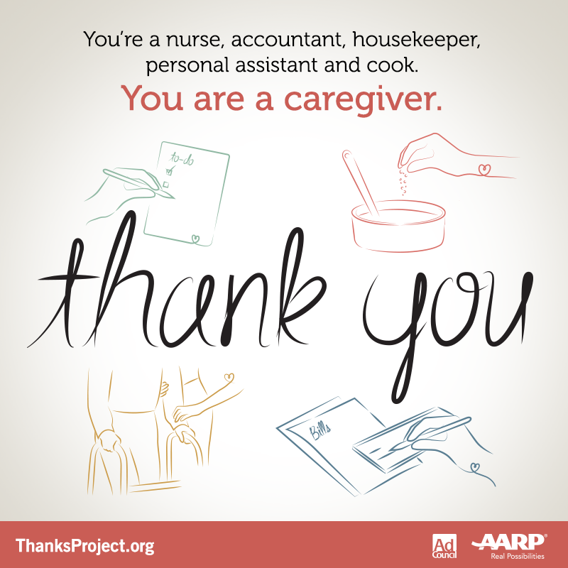 If You Re A Caregiver Thank You By Linda Brendle