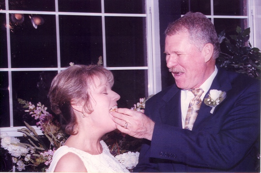 He was a gentleman--no cake in the face!