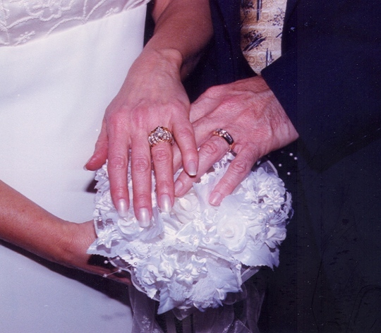 We chose special rings to represent our special love.