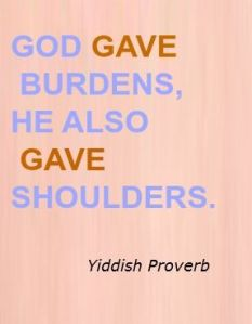 Burdens and Shoulders