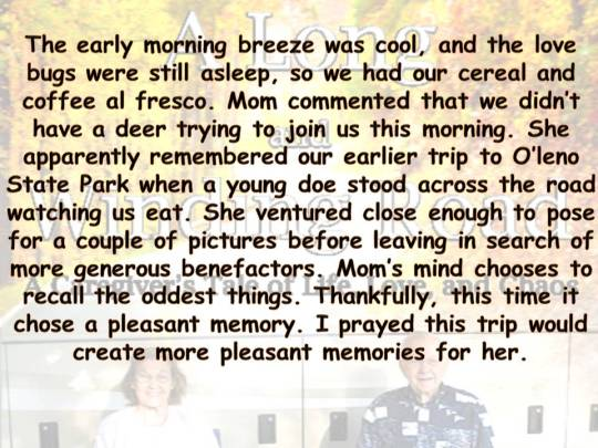Thankful for pleasant memories