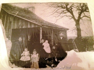 Granny Hagan and family she has ruffled dress in front
