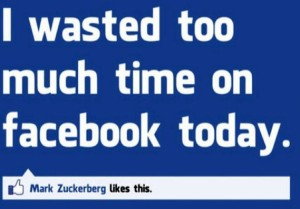 wasted time on facebook