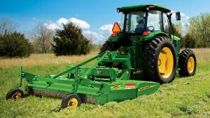 John Deere Tractor with shredder