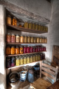jars of food in cellar