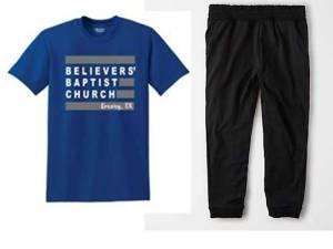 sweatpants and tshirt