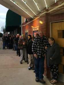 Line at Historic Select Theater