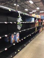 empty cereal aisle