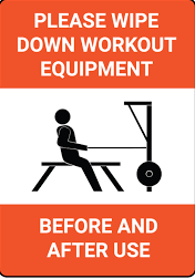 wipe down equipment